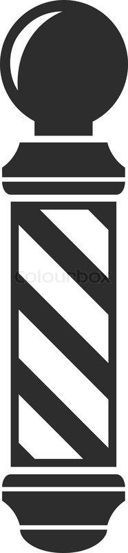 Barber Shop Pole Sign Vintage Symbol Icon Hipster Vector