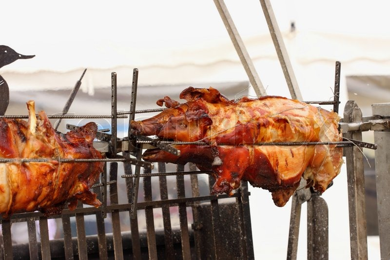 Pig On A Spit Spit Roasting Is A Stock Image Colourbox