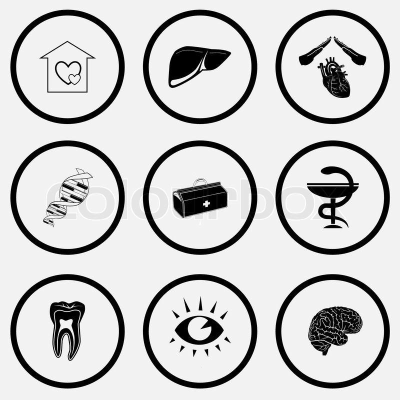 Vector Medical Icons Stock Vector Colourbox