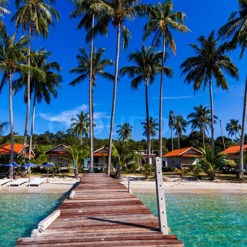Tropical Island Beaches: Vacations And Tourism Concept. Tropical ...