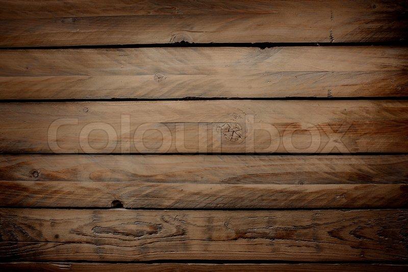Wood background with horizontal planks stock photo
