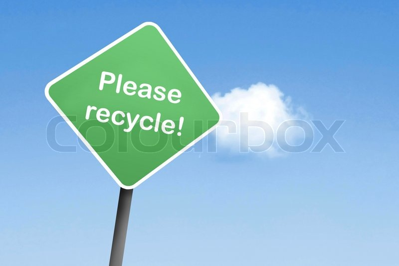 Stock image of 'Please recycle'