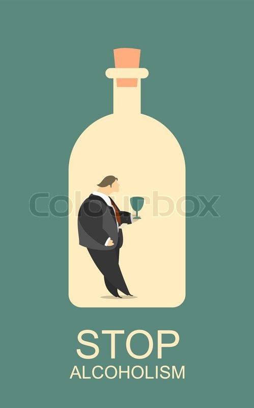 Two posters calling to stop alcohol     | Stock vector