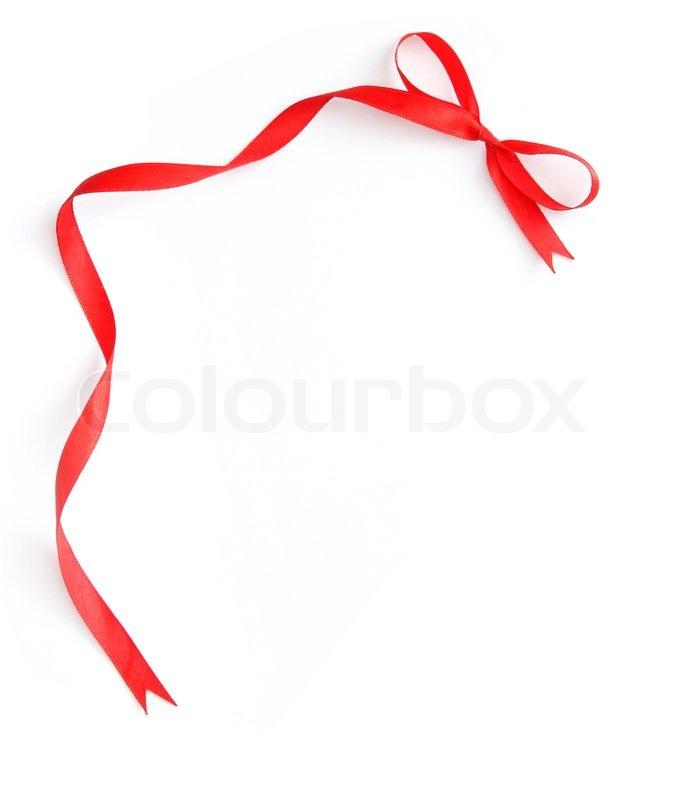 Red ribbon frame | Stock Photo | Colourbox