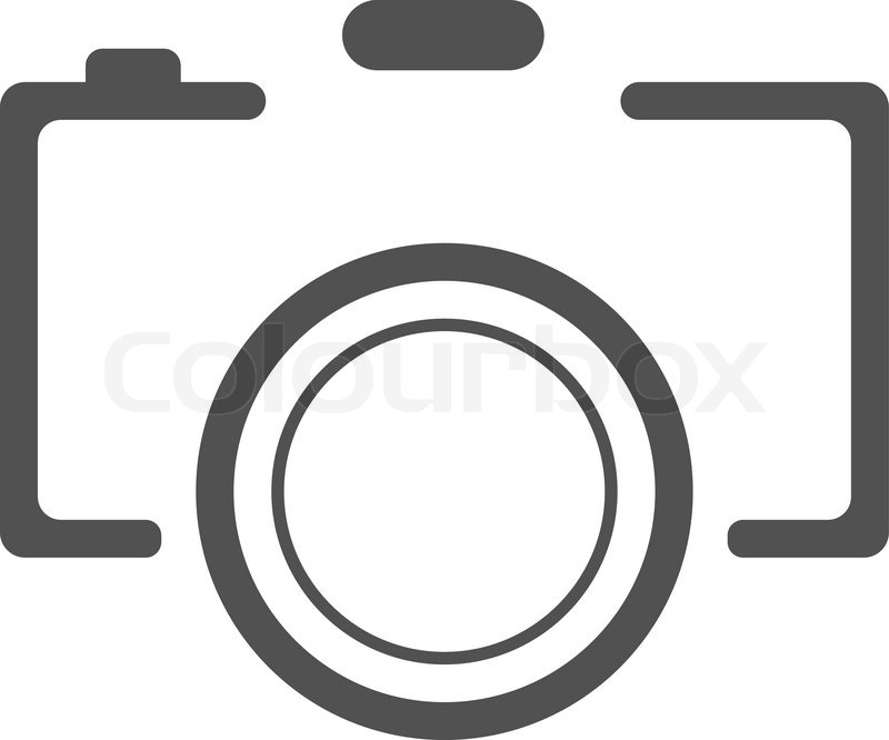 abstract black camera icon on white background vector illustration rh colourbox com photo camera vector icon photo camera vector icon