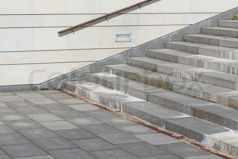 Granite Stairs Steps Background   Construction Detail, Stock Photo