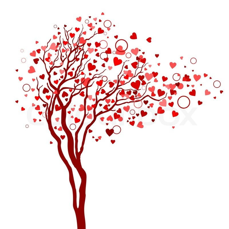 Love tree with heart leaves | Stock Vector | Colourbox