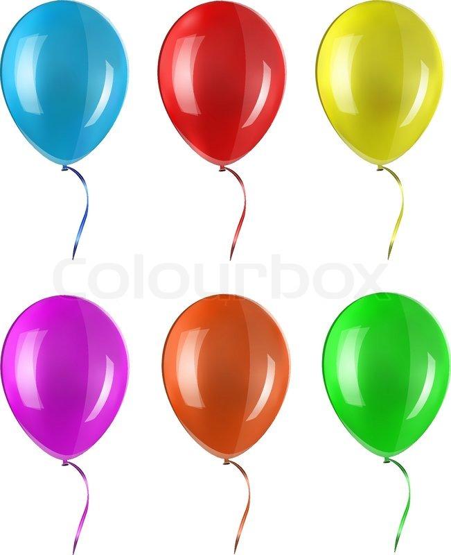 colored balloon stock vector colourbox