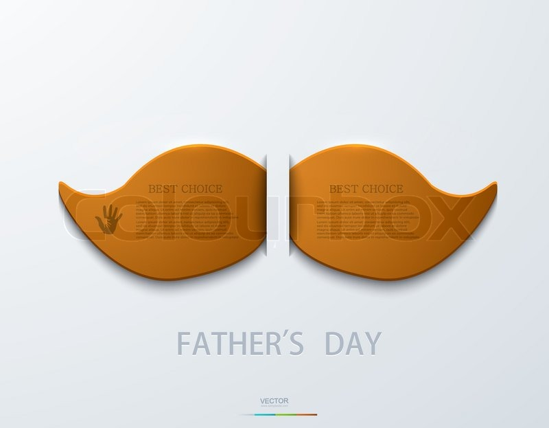 Vector modern fathers day background. Eps 10, vector