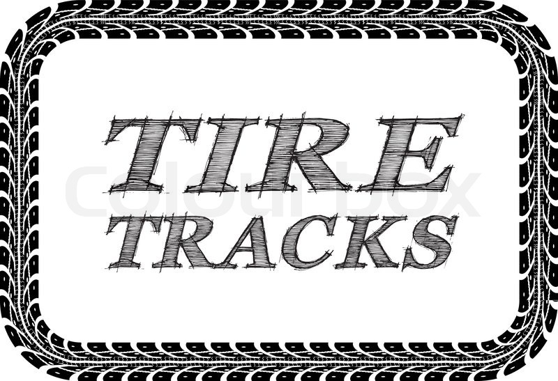 tire tracks frame in the form of a rectangle vector illustration on rh colourbox com tire track vector brush tire track vector background