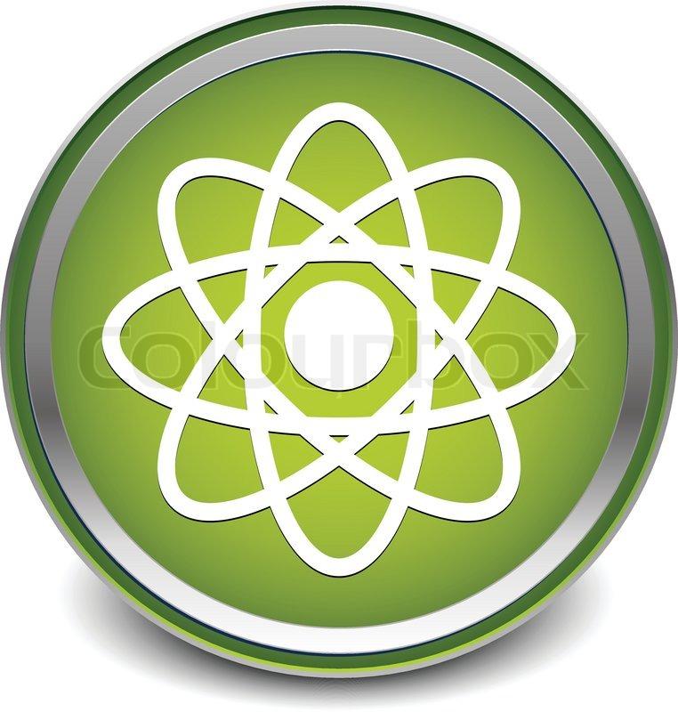 Illustration Of A Molecule Atom Symbol For Chemistry Biology