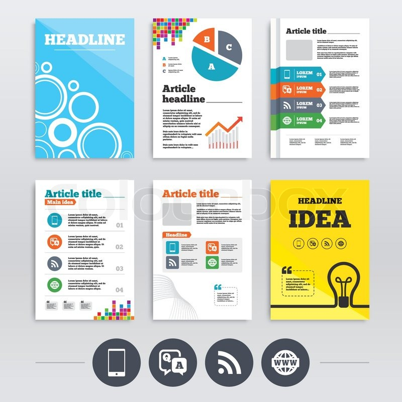 brochure design and a4 flyers question answer icon smartphone and