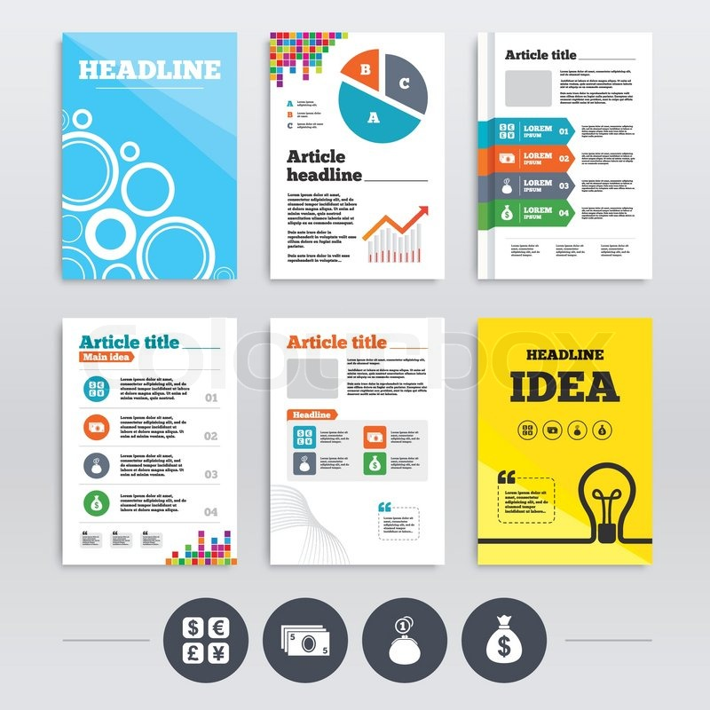 Brochure Design And A4 Flyers Currency Exchange Icon Cash Money
