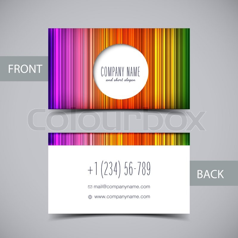 Vector abstract rainbow business card temlate with space for text vector abstract rainbow business card temlate with space for text mock up for your design stock vector colourbox reheart Images