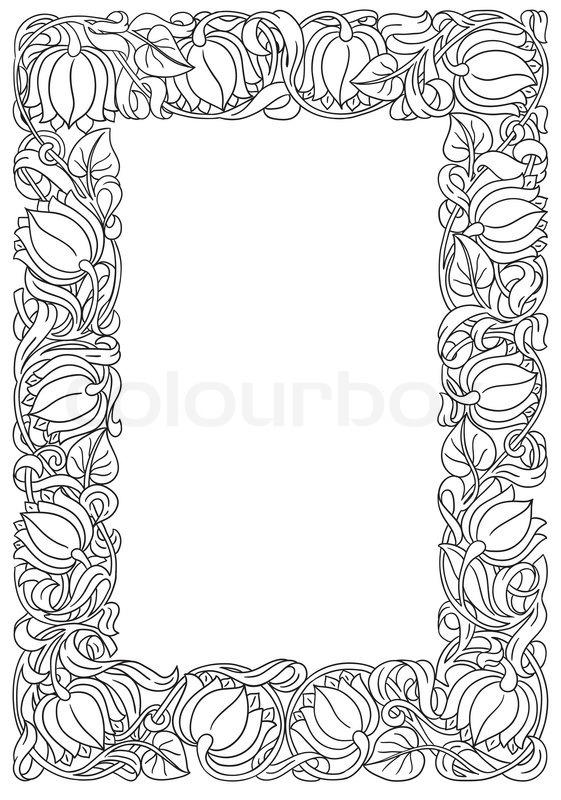 Retro Vintage Gothic Style Frame With Flowers Vector Background Flourish Heraldry Elements EPS 10 Illustration