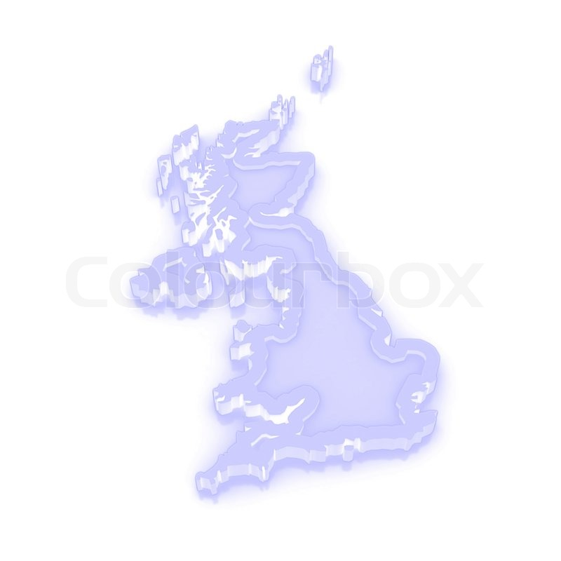 3d Map Of England.Three Dimensional Map Of England 3d Stock Image Colourbox