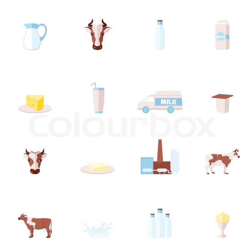 Milk Cow Vector Stock Vector of 39 Milk Dairy