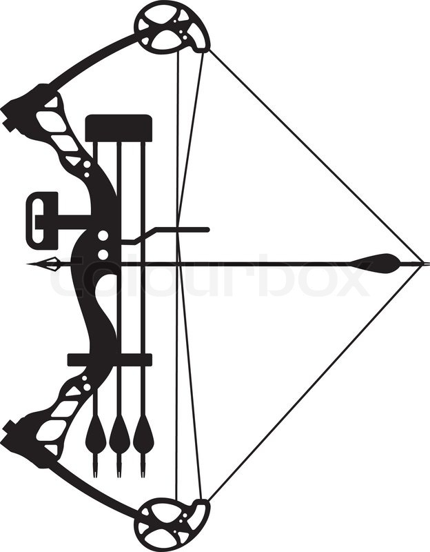 compound bow and arrow stock vector colourbox rh colourbox com bow and arrow vector graphic bow and arrow vector images