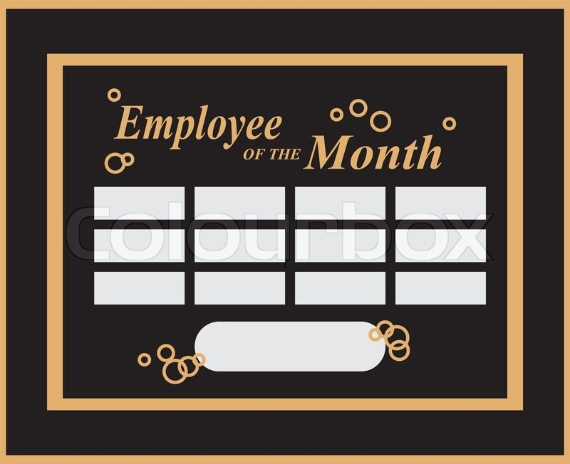 employee of the month award kit vector illustration stock