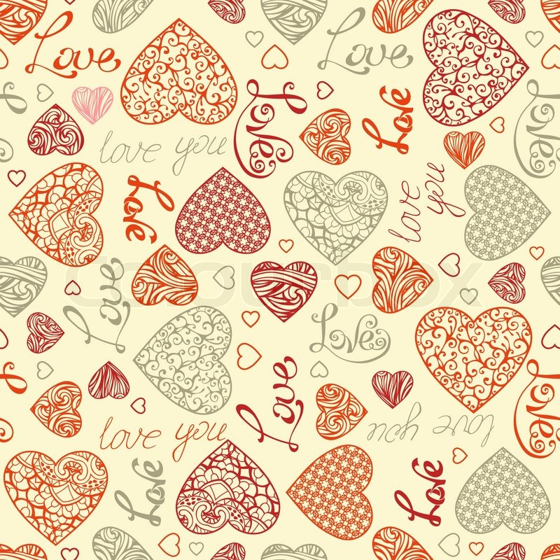 Vintage Heart Background Vintage hearts and tex...