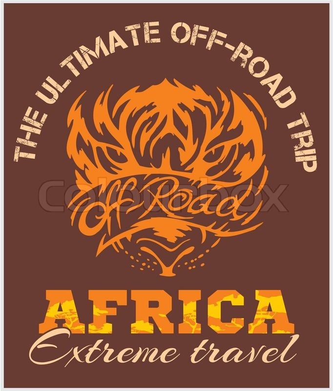 Travel Africa. Extreme travel - off-road vector emblem. , vector