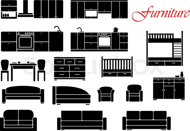 Assorted Silhouette Home Furniture With Chair Bed Table
