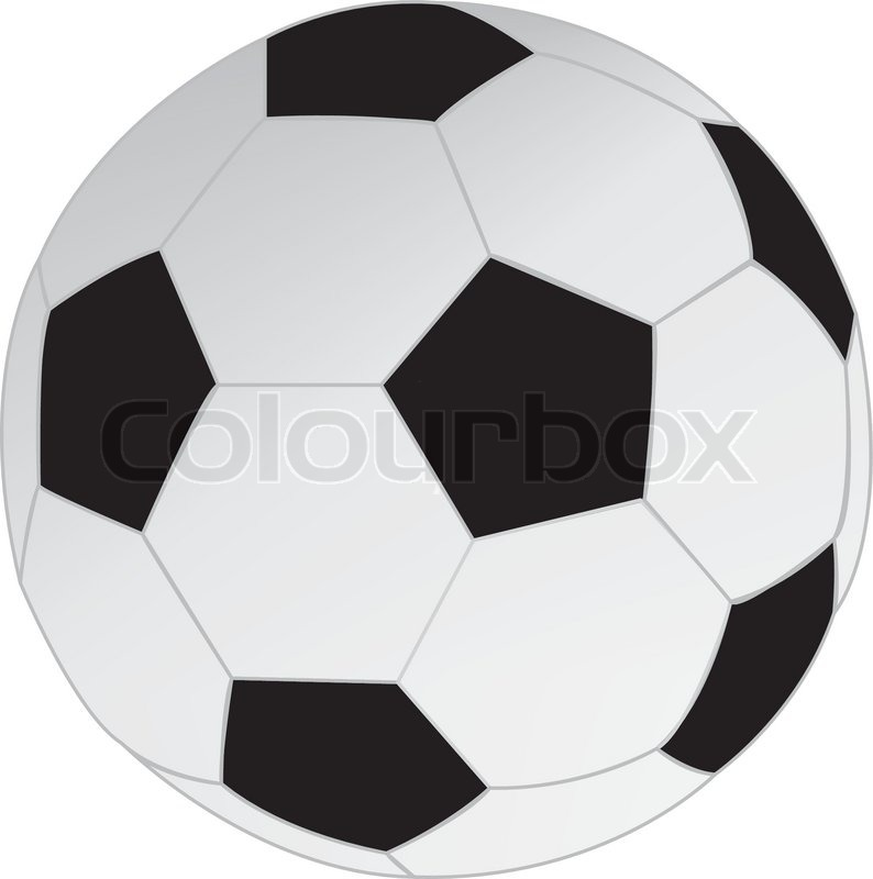 Drawing Soccer Ball Vector Colourbox
