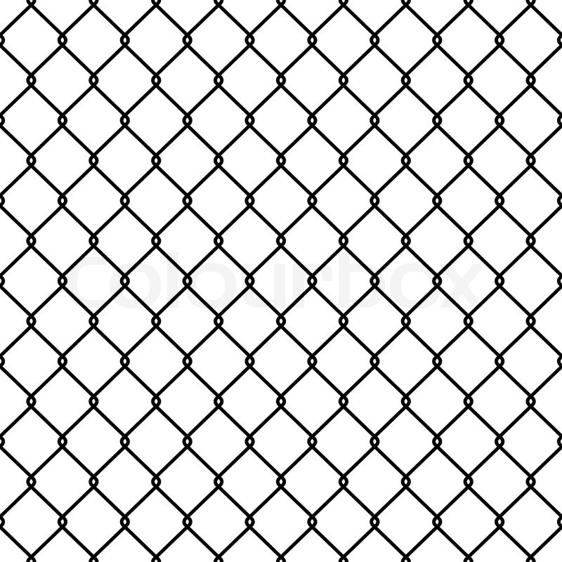 Steel Wire Mesh Seamless Background. Vector illustration | Stock ...
