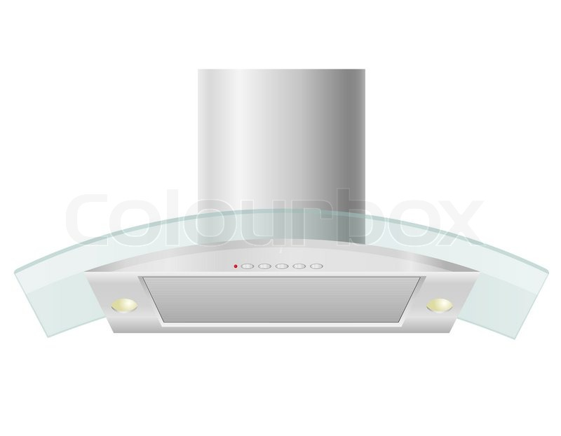 Extractor hood for kitchen vector illustration isolated on white ...