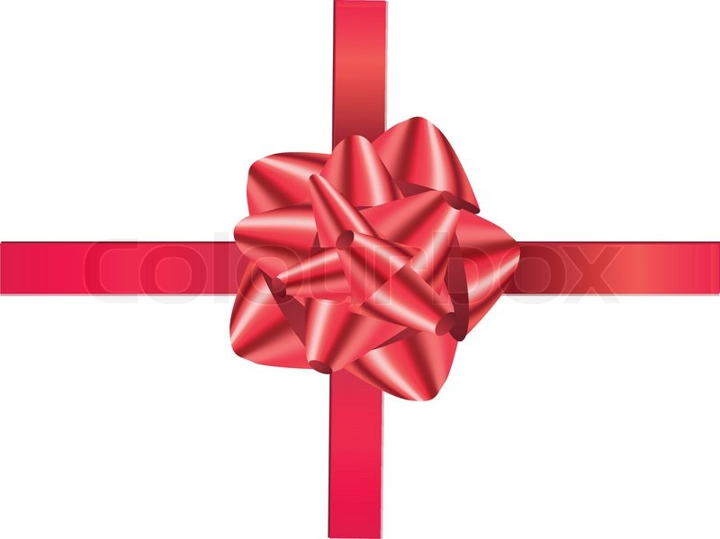 a decoration christmas red gift ribbon endow ruddy
