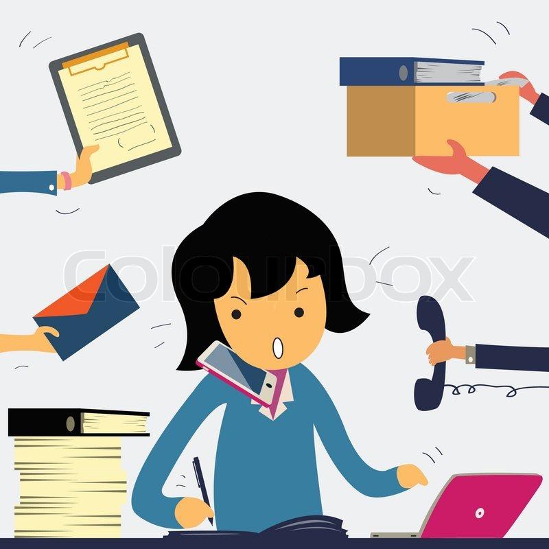 My secretary hard work