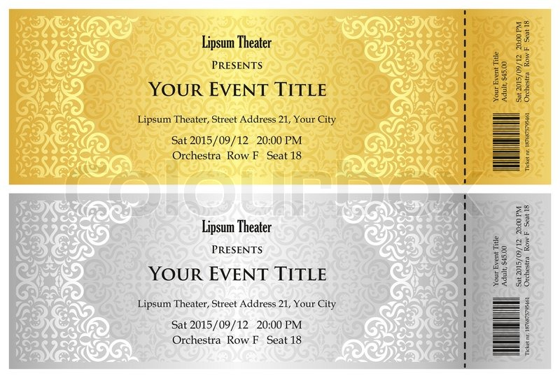 exclusive golden and silver theater