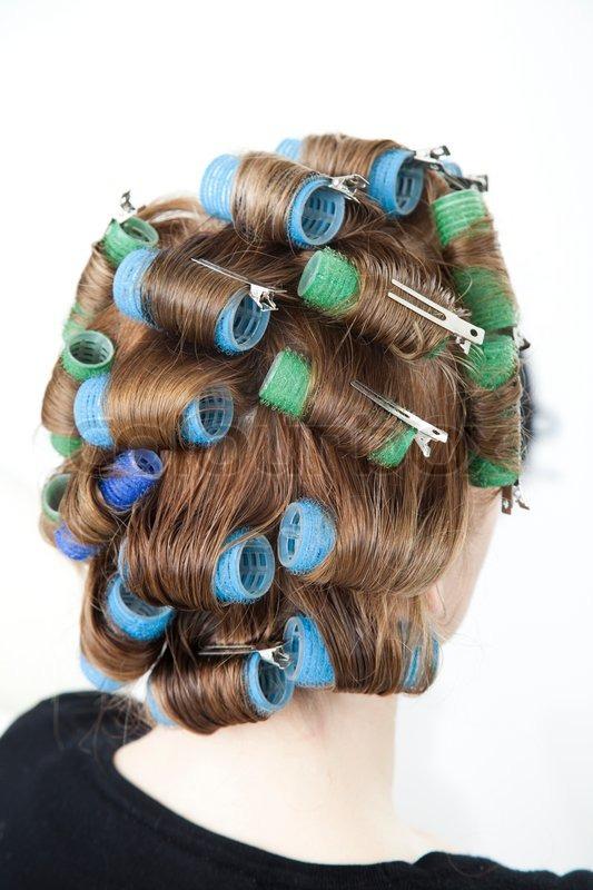 curler i håret