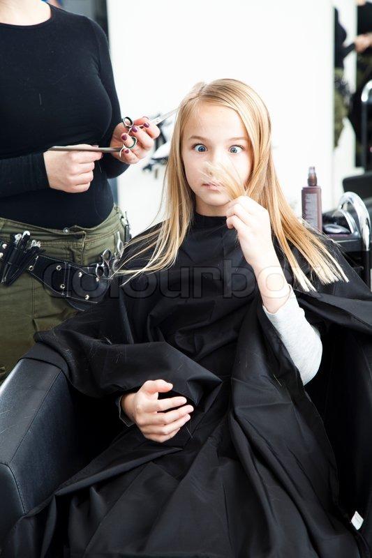 A Girl Unhappy Over Her New Haircut Stock Photo Colourbox