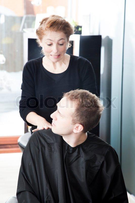 A Man Unhappy With His New Haircut Stock Photo Colourbox