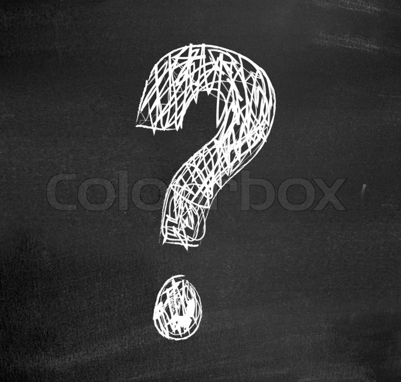 Question Punctuation Mark question mark drawn on...