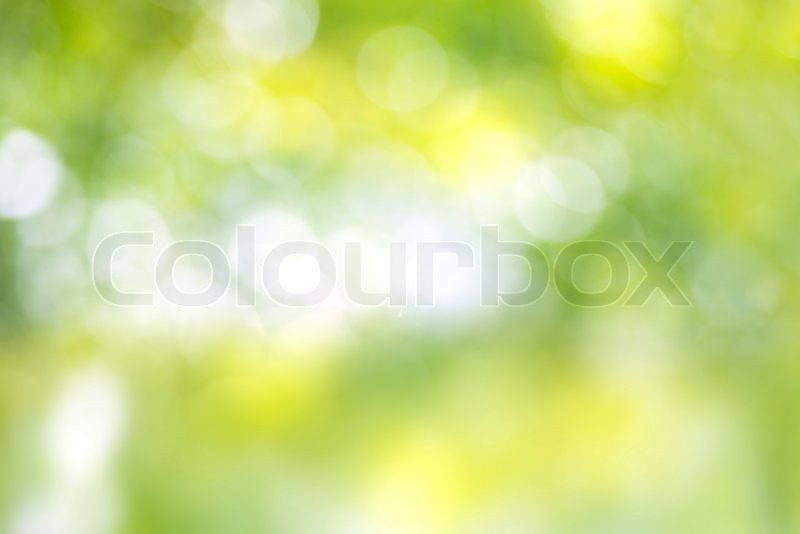 Green and yellow light spots can be used for background, stock photo