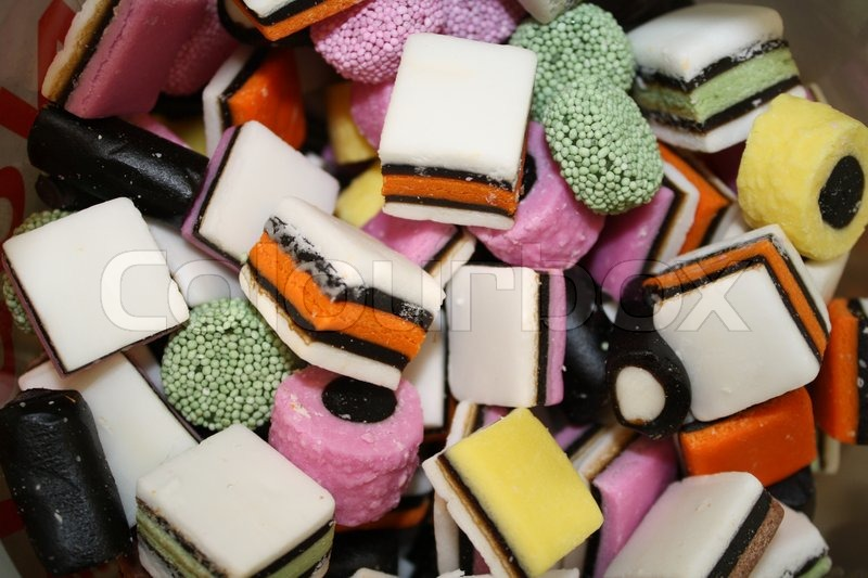 Stock image of 'candy, licorice, sweets'
