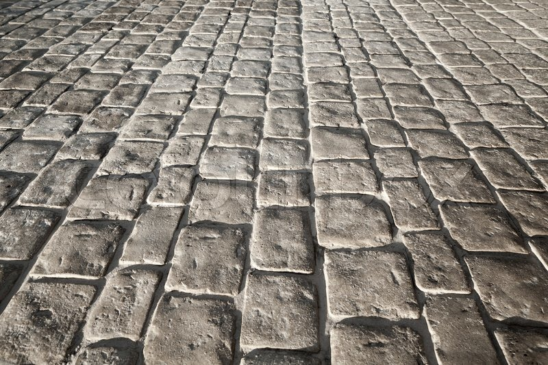 dark gray stone floor pavement  background texture with perspective
