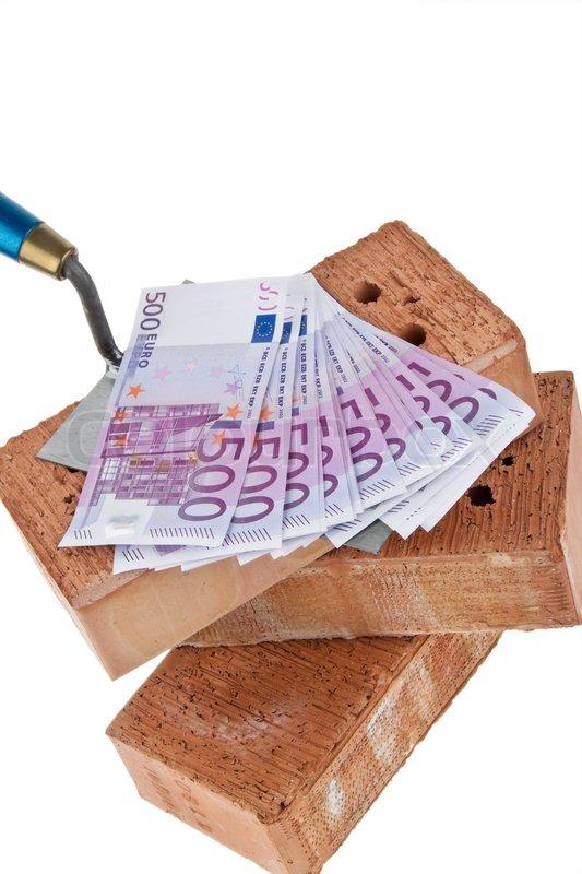 Beispiel Bild Hausbau Finanzierung Stockfoto Colourbox