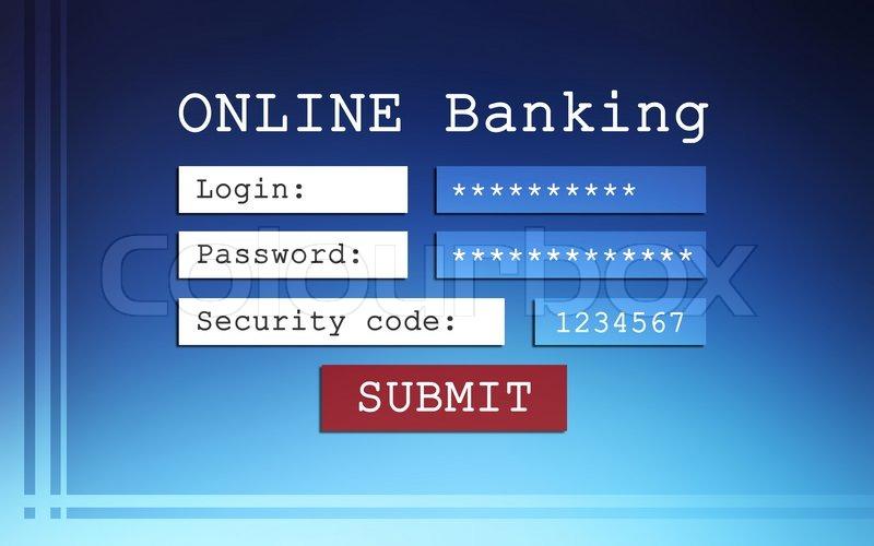 Online banking background - login,     | Stock image | Colourbox