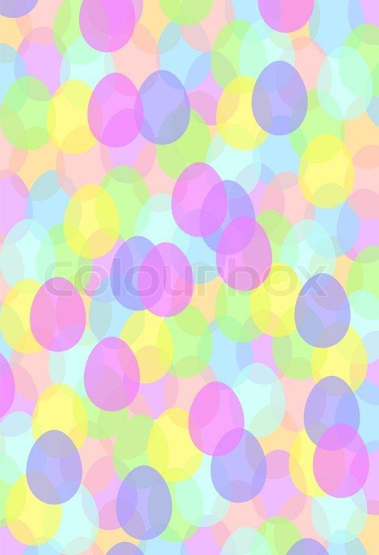 pastellfarbiger osterhintergrund mit muster aus kleinen farbigen ostereiern vektorgrafik. Black Bedroom Furniture Sets. Home Design Ideas