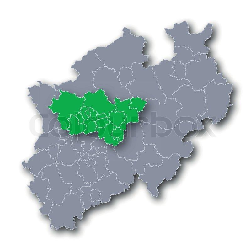 Karte Ruhrgebiet.Karte Nrw Und Ruhrgebiet Stock Vektor Colourbox
