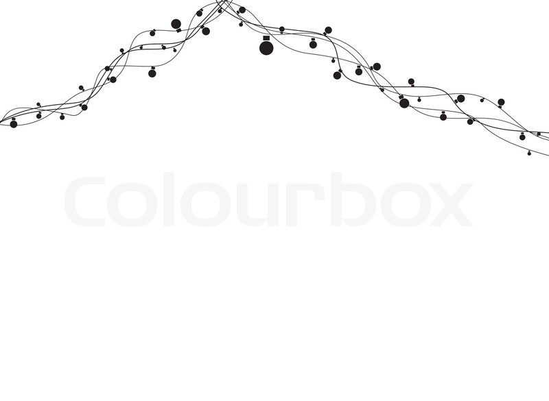 Absract Light Garland Vector