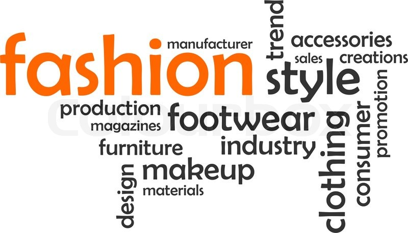 A Word Cloud Of Fashion Related Items Stock Vector Colourbox