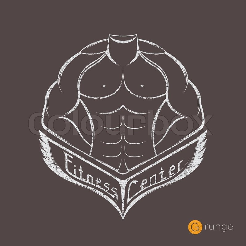 Sportsman Silhouette Character Vector Logo Design Template Sport Fitness Club Creative Concept