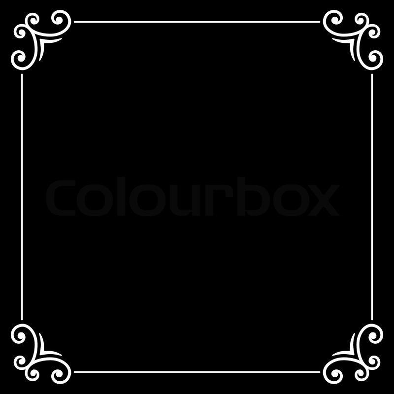Retro Silent Movie Calligraphic Frame on Black Screen ...
