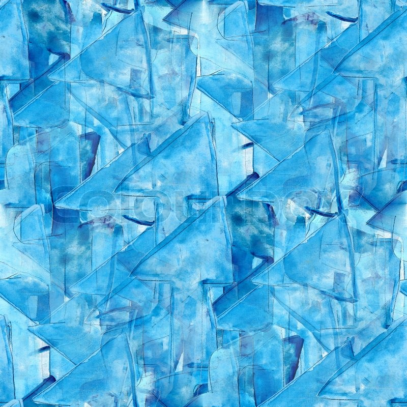 Abstract Watercolor Seamless Texture Background Blue Arrow Color Watercolour