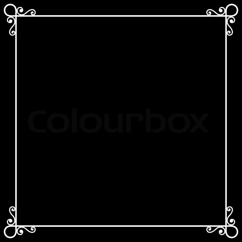 Vintage Frame on Chalkboard Retro Background for Silent Film. Vector ...