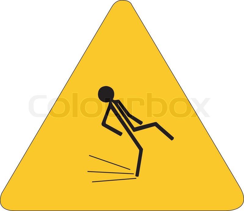 Gefahr rutschigen Boden | Vektorgrafik | Colourbox